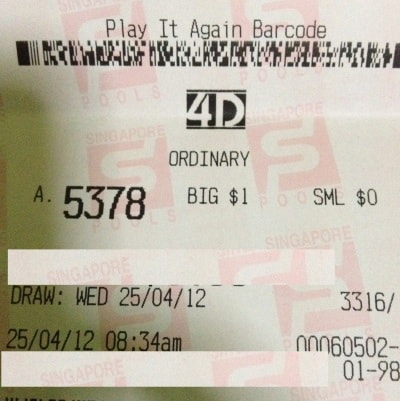 25 april 2012 Paid Member Strike 2 Direct Number: 6920 Starter ($250) & 5378 Consolation ($60) on 25 April Wed 2012